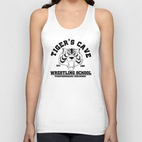 wrestling Tank Tops featuring Tiger's cave wrestling school by CarloJ1956