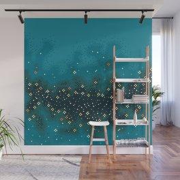 Blue Rift Galaxy (8bit) Wall Mural