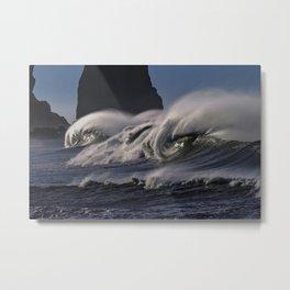 Big Pacific Surf Photograph Metal Print