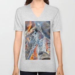 fire, ember and ash Unisex V-Neck