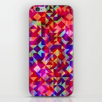 gem iPhone & iPod Skins featuring Geo Gem by Amy Sia