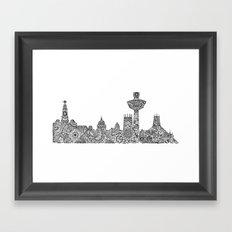 Liverpool City Skyline Framed Art Print