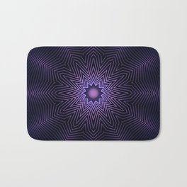 Deep Purple Mandala Bath Mat