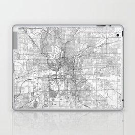 Indianapolis Map Line Laptop & iPad Skin