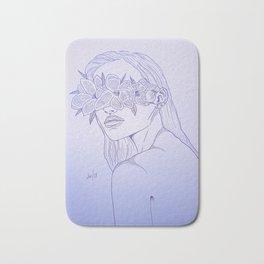 Flower Mask Bath Mat