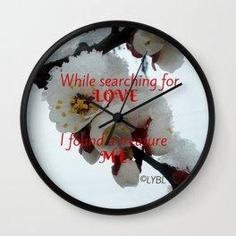 Love Yourself  Merry Christmas Edition Treasure Wall Clock