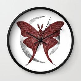 Crystal Moth Wall Clock