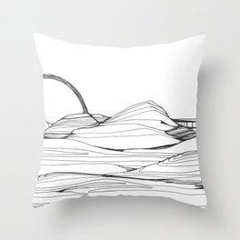Neutral Susnset Throw Pillow