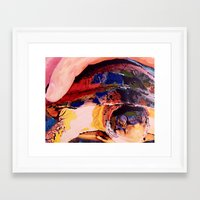 turtle Framed Art Prints featuring Turtle by Art By Carob