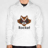 rocket raccoon Hoodies featuring Rocket by Pop Culture Fanatics