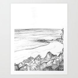 Pen & Ink Beach Art Print