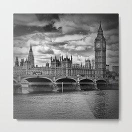 LONDON Westminster Bridge & Big Ben Metal Print