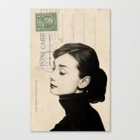 audrey Canvas Prints featuring Audrey by NORI