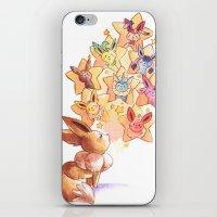 eevee iPhone & iPod Skins featuring Eevee Used Swift by Katy Farina
