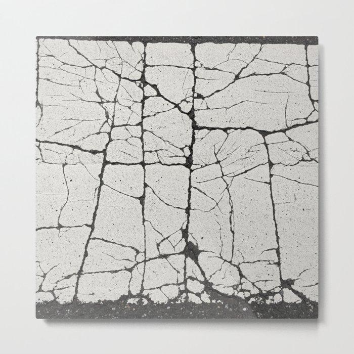 Cracked Crossing Metal Print