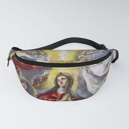 """El Greco (Domenikos Theotokopoulos) """"The Coronation of the Virgin (1591-1592)"""" Fanny Pack"""