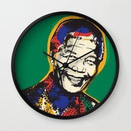 Nelson Mandela Pop Art Psychedelic Wall Clock