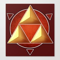 triforce Canvas Prints featuring Triforce by lythy