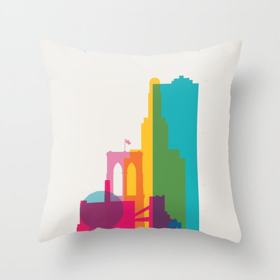 Shapes of Brooklyn. Accurate to scale Throw Pillow