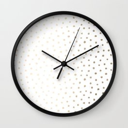 Golden Polka Dots Wall Clock
