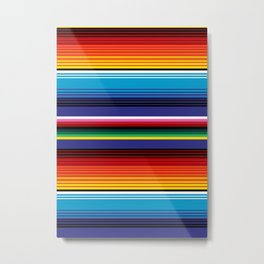 The Mexican Stripes Metal Print