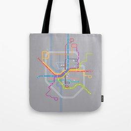 Simplified Columbus Transit Map Tote Bag