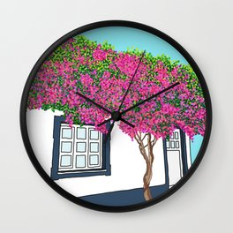 Little house in Portugal Wall Clock