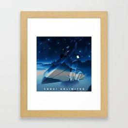 Blue Stars Framed Art Print
