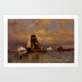 Looking out of Battle Harbor by William Bradford - Hudson River School Vintage Painting Art Print