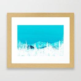 Turquoise Alaska - Pop Art I Framed Art Print