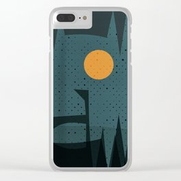 Night Abstract  Landscape Geometric Vector Art Clear iPhone Case