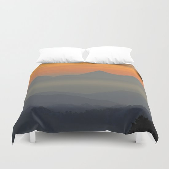 """Sunset at the mountains II"" Duvet Cover"
