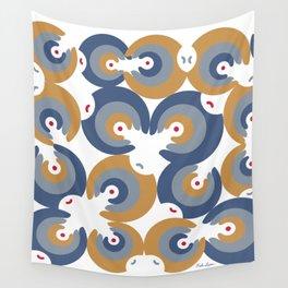 Mano Semilla/Hand Seed--Blue Wall Tapestry