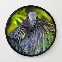 Nicobar Pigeon Wall Clock