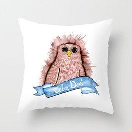Calm Owl Throw Pillow