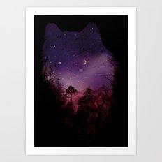 Guardian of the Woods Art Print