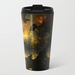 Frightening Glow in the Flowers Travel Mug