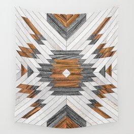 Urban Tribal Pattern No.8 - Aztec - Wood Wall Tapestry