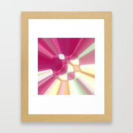 Striations Pinks and Beiges Framed Art Print