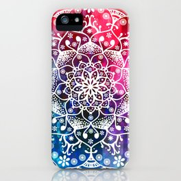 Namaste Red Purple Blue Mandala iPhone Case