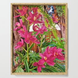 Pink Orchids Serving Tray