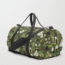 Indoors & outdoors (green camo) Duffle Bag