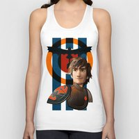 hiccup Tank Tops featuring Train a Dragon by milanova