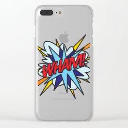 Comic Book Pop Art WHAM! Clear iPhone Case
