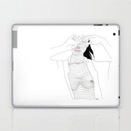 line drawing of a beautiful muse Laptop & iPad Skin