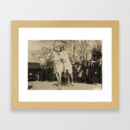 Inez Milholland Leading Suffrage Parade Framed Art Print