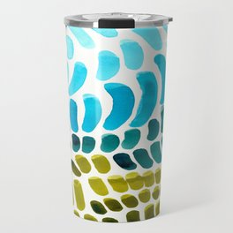 Complementary colors Blue Green Watercolor Natural Pattern Colorful Mid Century Modern Art Travel Mug