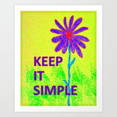 Wildflower Keep It Simple Art Print
