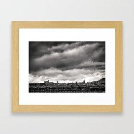 Edinburgh, Scotland (UK) in Black & White Framed Art Print