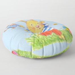 La joie d'un lapin heureux... Floor Pillow